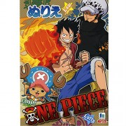 ONE PIECE Coloring Art Book Japanese Nurie Kids Study Education