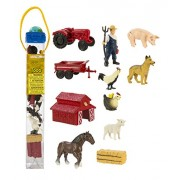 Plastic Miniatures In Toobs-Down On The Farm