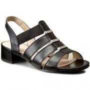 Sandały CAPRICE - 9-28200-28 Black Nappa 022