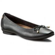 Clarks Półbuty CLARKS - Candra Light 261204554 Black Leather