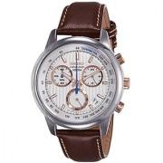 Seiko White Metal Round Dial Quartz Watch For Men (SSB211P1)