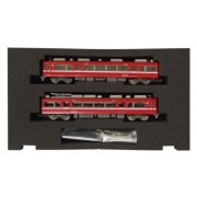 Meitetsu Series 7700 White belt Car (Without end panel window) Add-on Two Car Formation Set (Without Motor) (Model Train) (japan import)