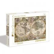 Puzzla Old map 3000 delova Clementoni, 33531