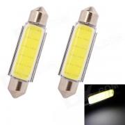 MZ feston 42mm 3W 100lm COB LED blanc voiture de lecture / License Plate / Toit Lampe (12V / 2 PCS)