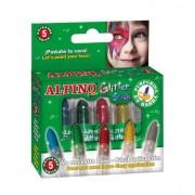 Set 5 culori machiaj, ALPINO Glitter - asortate