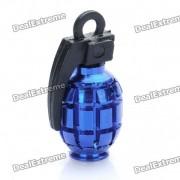 Enfriar en forma de granada Bike Bicycle Tyre valvula del neumatico Cap Dust Cover - Azul (2 Paquete de piezas)