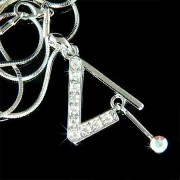 Triangle Striker Percussion Drums Swarovski Crystal Necklace