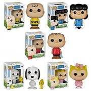 Funko Peanuts POP! TV Collectors Set: Charlie Lucy Sally Linus Snoopy & Woodstock Action Figure