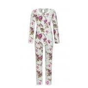 Ringella Blauwe dames pyjama met rozen Ringella
