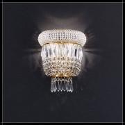 Luxus Kristall Wandleuchte Osaka rund 24K Gold exklusive Barock Lampe für Wan...