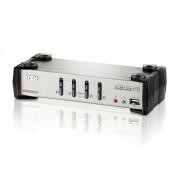 Aten CS-1734B 4 Port USB KVMP Switch w/ Audio and OSD / USB 2.0 Hub - Cables
