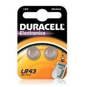 2 Batterie LR43 Alcaline 1,5V Duracell Electronics