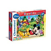 Clementoni - Jigsaw Puzzle - 104 Pieces - Maxi - Mickey Mouse Club House 23974