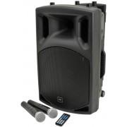 Qtx Qx12pa Portable 100w Pa Unit Inc 2x Radio Mics For Aerobics Speech
