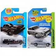 Tv Series Batmobile & James Bond 62 Aston Martin Hot Wheels 60S Iconic Car Set 2014 #65 #200 In Protective Cases