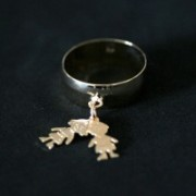 Jewelry Ring Semi Clad Couple Children / Boy and Girl