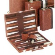 Classic Brown & White Backgammon Set by CHH Quality Product Inc [Toy] (English Manual)