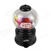 Manual Rotation Torsion Candy Machine / Piggy Bank - Black + Transparent (350ml)