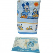 Trapunta Disney Topolino e Pluto lettino culla c/paracolpi + lenzuola G223