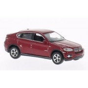BMW X6, rojo oscuro, Modelo de Auto, modello completo, Welly 1:87