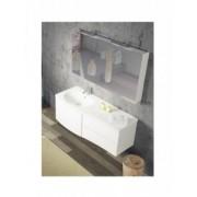 Ansamblu mobilier Riho cu lavoar marmura 130cm gama Celano, Set 05 Silk