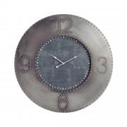 Horloge ronde en métal gris et noir diamètre 80cm
