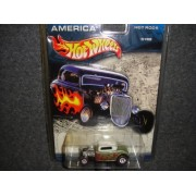 HOT WHEELS CRUISIN' AMERICA HOT RODS GREEN AND WITHE WITH FLAMES 1932 FORD DIE-CAST COLLECTIBLE by Mattel