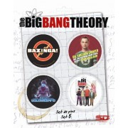 (NEX) TBBT SET B DE 4 PINS THE BIG BANG THEORY