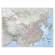 Wandkaart China, 76 x 59 cm | National Geographic