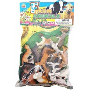 Red Rock Farm Animal figures Set for Kids/Young ones pack of 20 animals