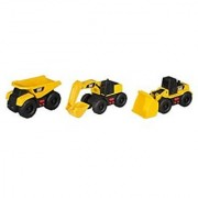 Toy State Caterpillar Cat Mini Mover Light and Sound Dump Truck (3 Pack)