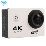 F60 2.0 inch Screen 4K 170 Degrees Wide Angle WiFi Sport Action Camera Camcorder with Waterproof Housing Case Support 64GB Micro SD Card(White)