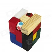 Tridimensional de madera Puzzle Domino juguete - Color + Multicolor