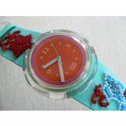 1992 Pop Swatch Watch Soupe De Poisson Pwz106