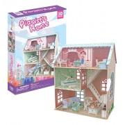 3D Puzzle Pianists Home Dollhouse CubicFun P684h 105 Pieces