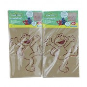 Set of 2 Packs Sesame Street Lunch Fun Kids Brown Paper Lunch Bags 20 pcs. by Evriholder