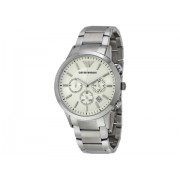 Emporio Armani Sportivo Chronograph Cream Dial Stainless Steel Men's Watch AR2458 Cream