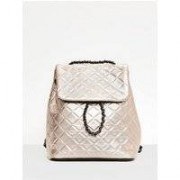 Missguided Rose Gold Quilted Chain Backpack, Pink