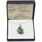 Campo del Cielo iron meteorite on silver chain