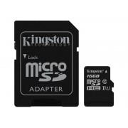 Kingston Technology 16GB microSDHC UHS-I Memory Card + SD Adapter