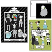 Zombie Apocalypse Pocket Paper Pal Set PERFECT FOR HALLOWEEN! Everything You Need to Know About Zombies Coloring Book and Zombie Gift Card with Envelope