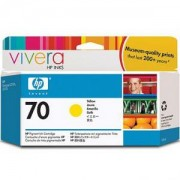 HP 70 130 ml Yellow Ink Cartridge with Vivera Ink, HP Designjet Z2100, Z3100 - C9454A