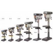 Optimum Bohrmaschine Säulenbohrmaschine quantum B14 + Schraubstock + 19-tlg Bohrerset