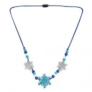 Beaded Glitter Foam Snowflake Necklace Craft Activity Kit For Kids Jewelry Crafts Makes 12