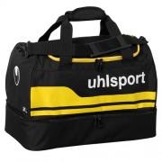uhlsport Sporttasche BASIC LINE 2.0 - mit Bodenfach - schwarz/maisgelb