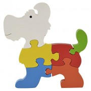 Skillofun Wooden Take Apart Puzzle Large Dog, Multi Color