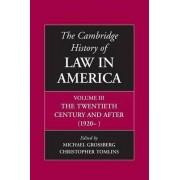 The Cambridge History of Law in America: Volume 3 by Michael Grossberg