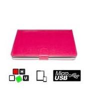 """WPOWER 7-8"""" billentyűzetes tablet tok, hot-pink, Magyar"""