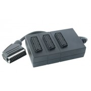 Vivanco Scart Splitter 3-way, prise péritel <- 3x connecteur Scart, 0,2 m (Import Allemagne)
