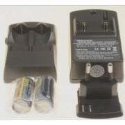 CR123A akkumulátöltő 2 db akkuval